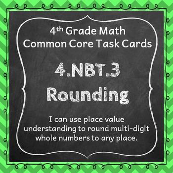 4.NBT.3 Task Cards: Rounding Task Cards 4NBT3 Rounding Who