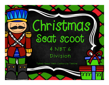 4.NBT.6 Christmas Seat Scoot Class Activity- Division