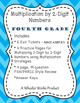 4.NBT.B.5: Multiplication by 2-Digit Numbers, Fourth Grade