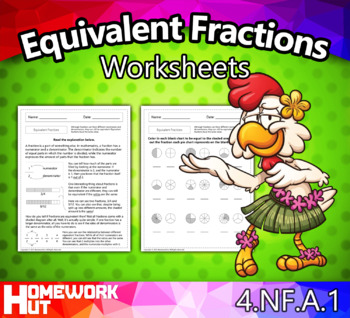 4.NF.1 - Equivalent Fractions Worksheets