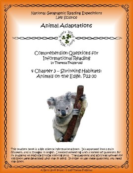 4 NGRE Animal Adaptations - Animals on the Edge, p22-30