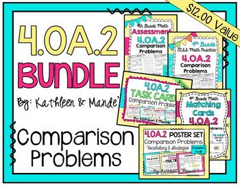 4.OA.2 BUNDLE: Comparison Word Problems