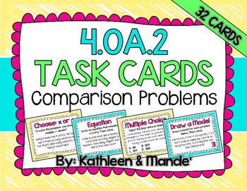 4.OA.2 Task Cards: Comparison Problems