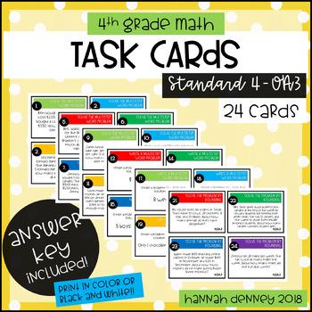 4.OA.3 Task Cards