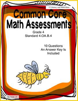 4.OA.B.4 Common Core Assessment (Grade 4)