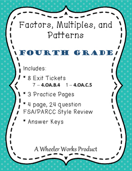 4.OA.B.4: Factors, Multiples, and Patterns for Fourth Grad