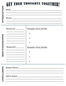 4 Paragraph Essay Graphic Organizer