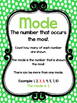 4 Printable Mean, Median, Mode, and Range Class Posters. M