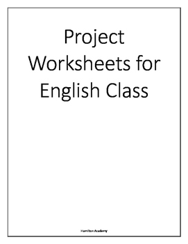 4 Projects for English Class