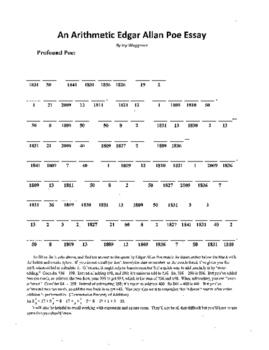 4 Puzzle,Edgar Allan Poe,Cask of Amontillado,Noun Search,V