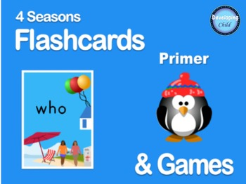 4 Seasons Flashcards and Games: Primer Sight Words