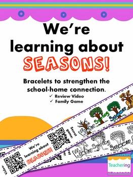 4 Seasons Homework {Bracelets with QR Codes}