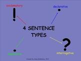 4 Sentence Types: Smart Notebook Review
