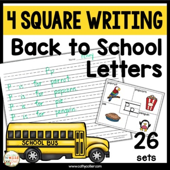 4 Square Writing:  Letters