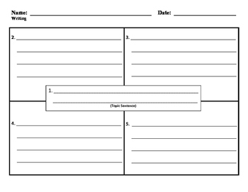 4 Square Writing Template 02