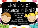 4 Types of Sentences: A Language Arts Literacy Pack