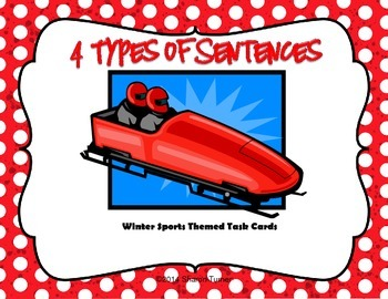 4 Types of Sentences: Winter Sports Theme, Task Cards