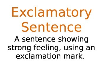 4 Types of Sentences Posters