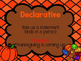 4 Types of Sentences PowerPoint Thanksgiving Themed