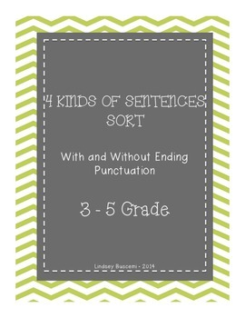 4 Types of Sentences Sort