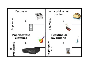 Elettrodomestici (Appliances in Italian) 4 by 4