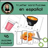 Spanish 4 letter words puzzles Palabras de cuatro letras,