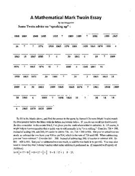 4 puzzle package,Tom Sawyer,Mark Twain,Vocab,X-word,Math B