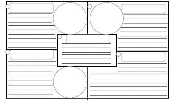 4 square writing organizer