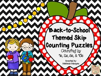 40 Back-to-School Number Order & Skip Counting Puzzles