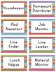 40 Editable Classroom Job Labels with Descriptions