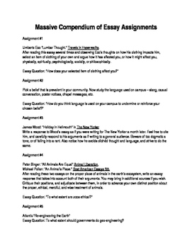 40 Essay Assignments and 11 Ideas