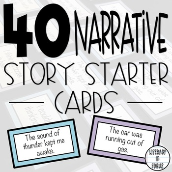 40 Narrative Starter Cards- Great Story Starters!