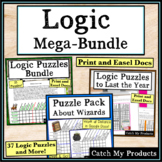 Logic Puzzles Mega Bundle for Gifted and Talented or Brigh