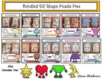 """40% Off BUNDLED 2D Shapes: """"Real World"""" Puzzle Pie Activit"""