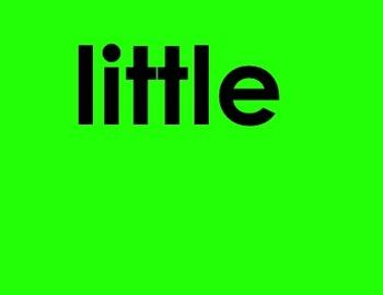 40 kindergarten sight words- Smartboard