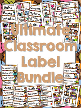 400+ Classroom and Supply Labels - Multi-Colored Polka Dot
