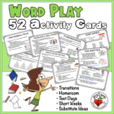 42 Creative Word Play Activity Bursts - Fun At Your Finger