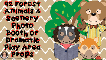 42 Forest Animals & Scenery Props Photo Booth Dramatic Pla