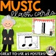 Music Symbol Flash Cards {42 Giant 8.5×11 Color & Ink-Frie