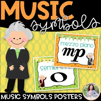 Music Symbol Posters {42 8.5×11} {Color & BW, American & I