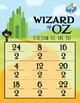 42 Wizard of Oz Inspired Division Tic Tac Toe Games