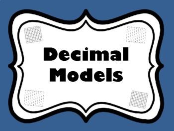Decimal Models Task Cards (Set of 64 cards aligned to 4.2E)