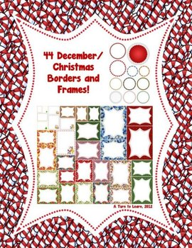 44 Christmas/December Borders and Frames!