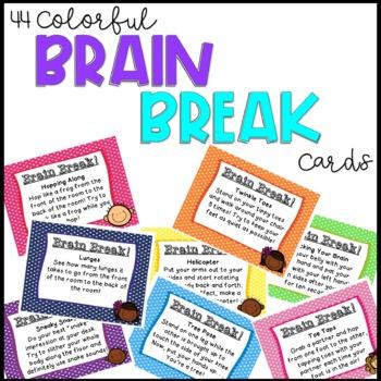 44 Colorful Brain Break Cards!