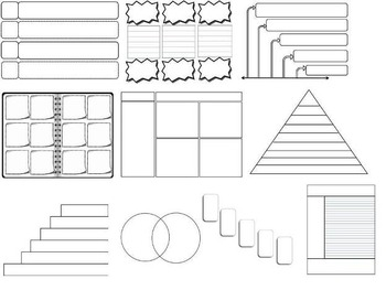 44 Editable Graphic Organizers Interactive Notebook Templa