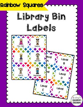 44 Library Book Bin Labels (Genre, Pictures, & Levels)  Co