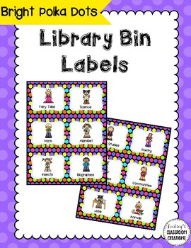 44 Library Book Bin Labels (Genre, Pictures, & Levels)  Po