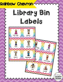 44 Library Book Bin Labels (Genre, Pictures, & Levels)  Ra