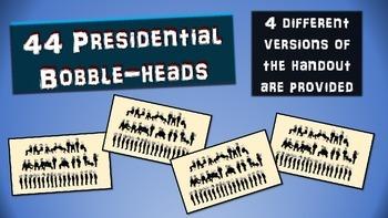 44 U.S. (American) Presidents Bobble-heads Activity: hando
