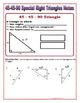 Right Triangles - 45 45 90 Special Right Triangles Notes a